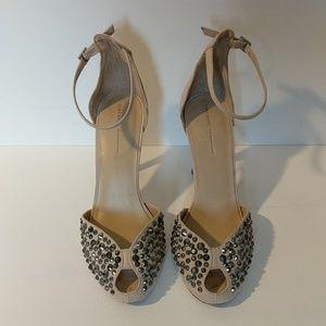 Zara Basic Blush High Heel Peep Toe Size 38